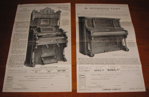 Cornish American Pianos and Organs