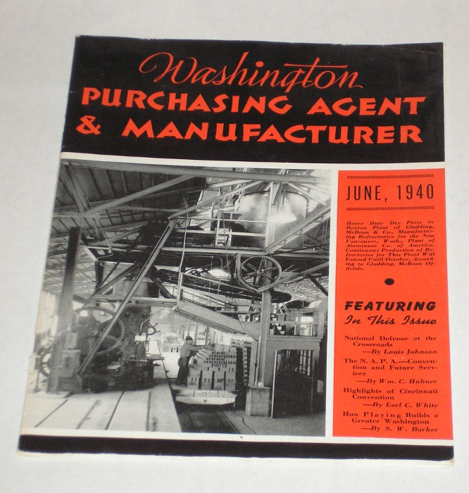 Washington Purchasing Agent and Manufacturer Vol. XV June, 1940 No. 12