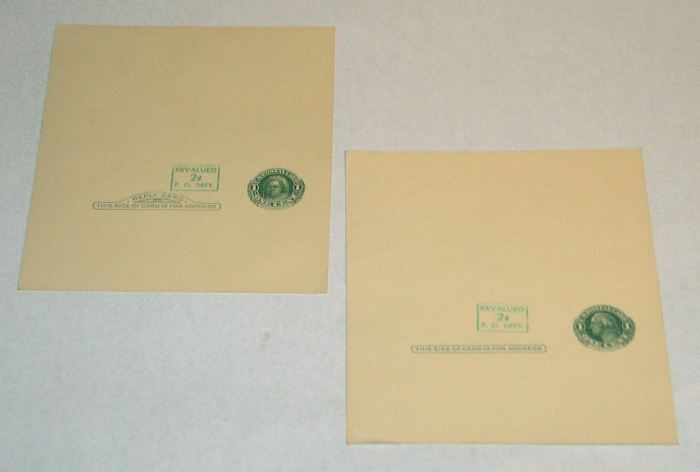 U.S. Postal Reply Card UY14B (two)