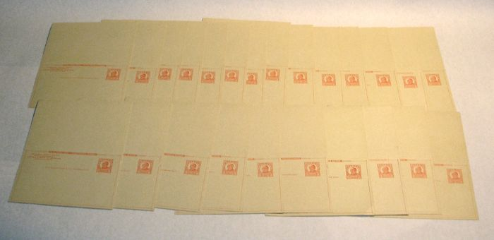 Postal Reply Cards, Scott UY12, (24 cards)