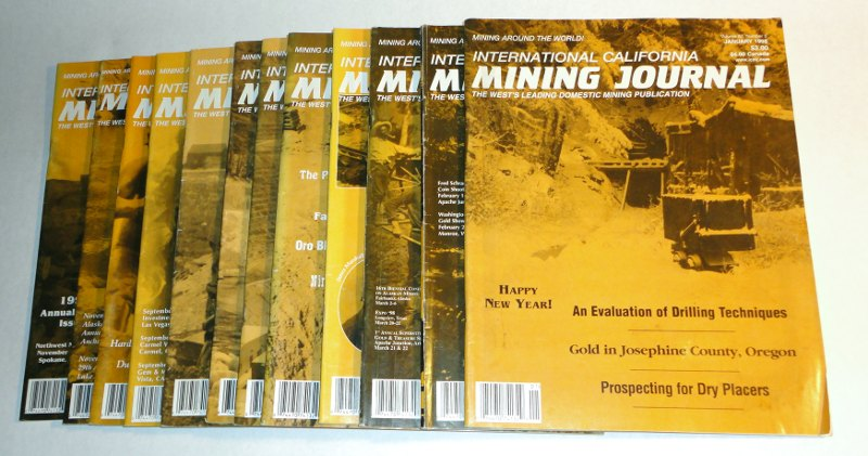 International California Mining Journal 1998 complete, 12 issues, Harn, Kenneth L., editor