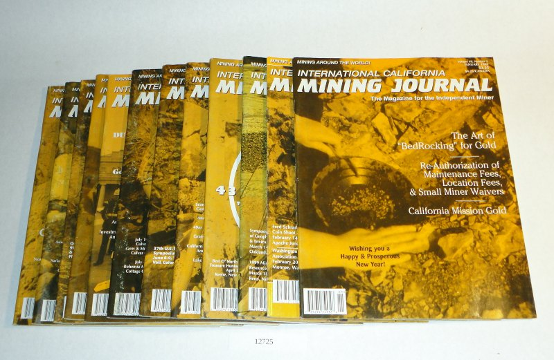 International California Mining Journal 1999 complete, 12 issues, Harn, Kenneth L., editor