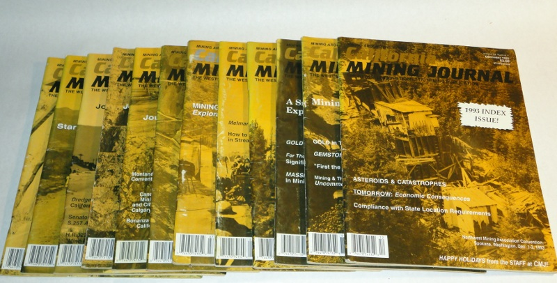 California Mining Journal 1993 complete, 12 issues, Harn, Kenneth L., editor