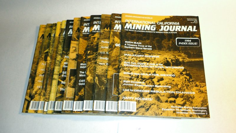 International California Mining Journal 1994 complete, 12 issues, Harn, Kenneth L., editor