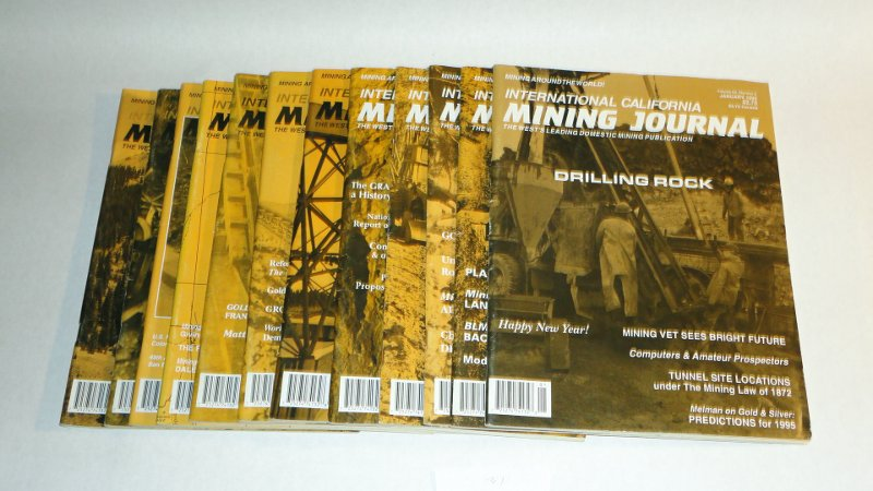 International California Mining Journal 1995 complete, 12 issues, Harn, Kenneth L., editor