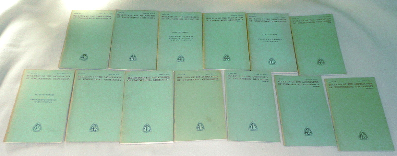 Bulletin Of The Association Of Engineering Geologists,  1977-1980, 13 issues, Matthews, Robert A.