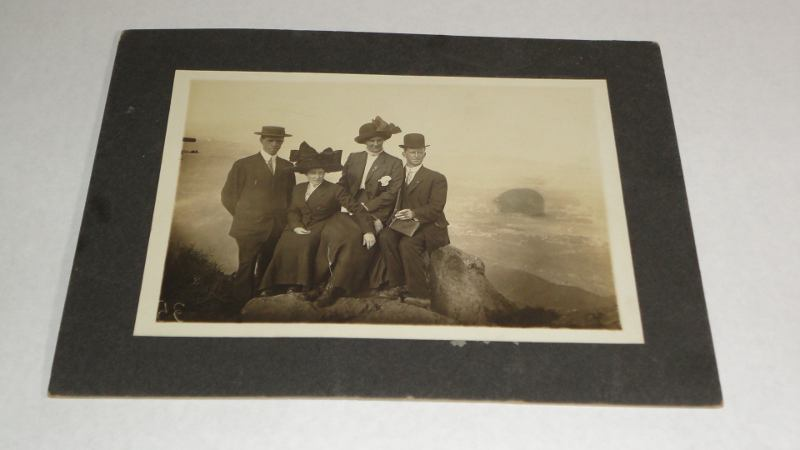 Photo of four people on Mt. Tamalpais, California, Ransome, F.