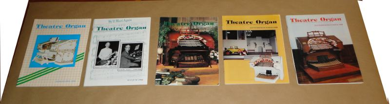 Theater Organ, 1992, 5 of 6 issues, McGinnis, Grace, Editor