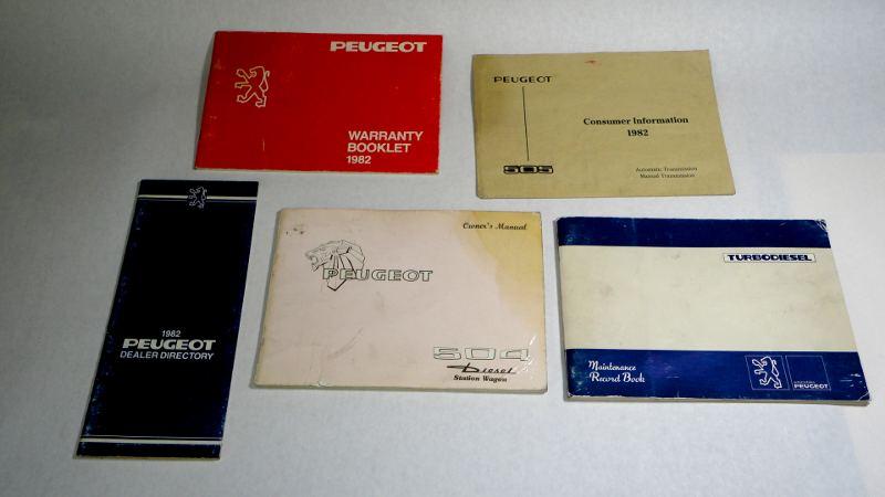 Peugeot 504 Diesel Station Wagon Owner S Manual 1981