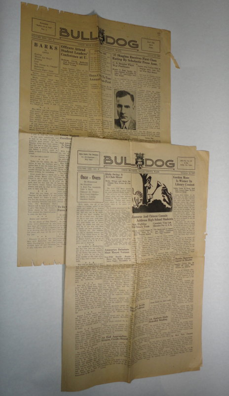 Girvin, Margaret, and Wilna Overstreet, editors, The Bull Dog Union High School, Mt. Vernon Washington, 1937, two issues