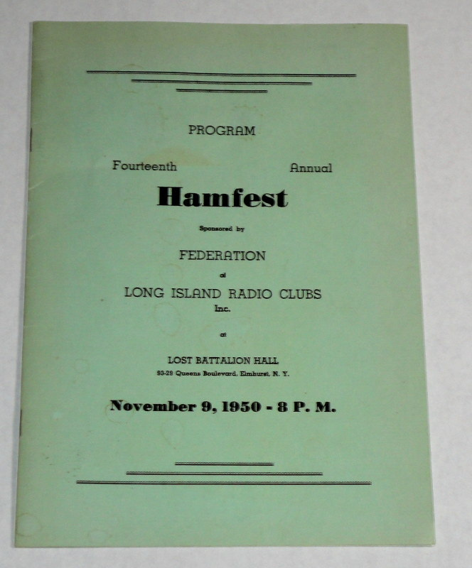 Program Fourteenth Annual Hamfest, Federation Long Island Radio Clubs 1950
